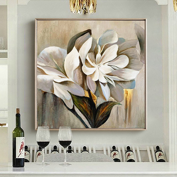 European high-grade Pure hand-painted Oil Painting Decorative Painting The Living Room Restaurant Entrance Light Luxury Modern P