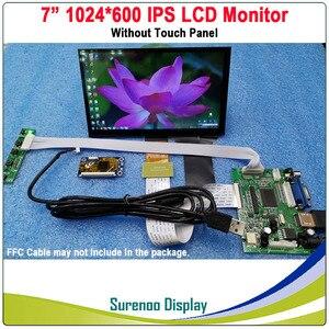 "Image 2 - 7 ""1024*600 IPS LCD מודול צג תצוגה + HDMI/VGA/2AV לוח + מגע קיבולי פנל w/USB בקר עבור Windows & אנדרואיד"