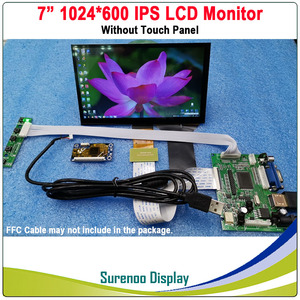 "Image 2 - 7"" 1024*600 IPS LCD Module Monitor Display + HDMI/VGA/2AV Board + Capacitive Touch Panel w/ USB Controller for Windows & Android"