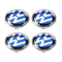 4 pçs 70mm azul roda centro hub capa emblema para volkswagen vw touareg 2007-2010 7l6 601 149 b