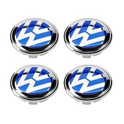 4 sztuk 70mm niebieski koła centrum pokrywa piasty Cap dla Volkswagen VW Touareg 2007 2010 7L6 601 149 B w Zaślepki od Samochody i motocykle na