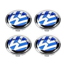 4 шт. 70 мм синяя крышка ступицы колеса для Volkswagen VW Touareg 2007-2010 7L6 601 149 B