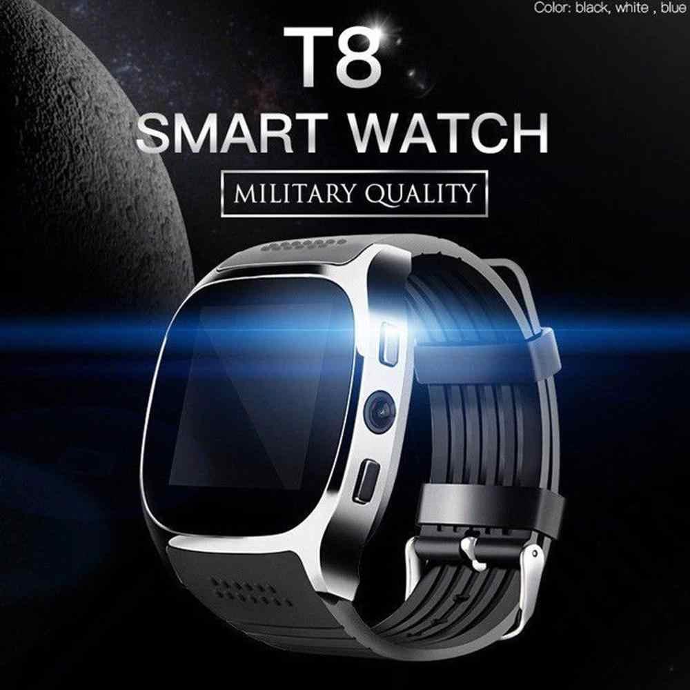 T8 بلوتوث ساعة ذكية مع كاميرا دعم سيم TF بطاقة عداد الخطى الرجال النساء دعوة الرياضة Smartwatch للهاتف أندرويد PK Q18 DZ09