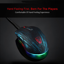 Motospeed V60 Mouse RGB Backlight USB 1.8m Wired 7 Button Gaming Gamer Mouse 5000 DPI Mouse For PC Laptop Computer