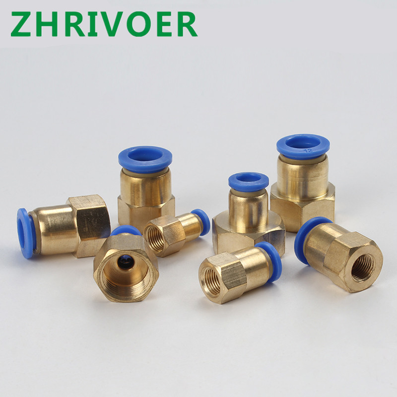 Color : 6MM, Specification : 1//2 Sturdy 1//8 1//4 3//8 1//2 Female Thread Push In Fitting For Air Pipe Joint Hose 4MM 6MM 8MM 10MM 12MM Pneumatic Connector Fittings