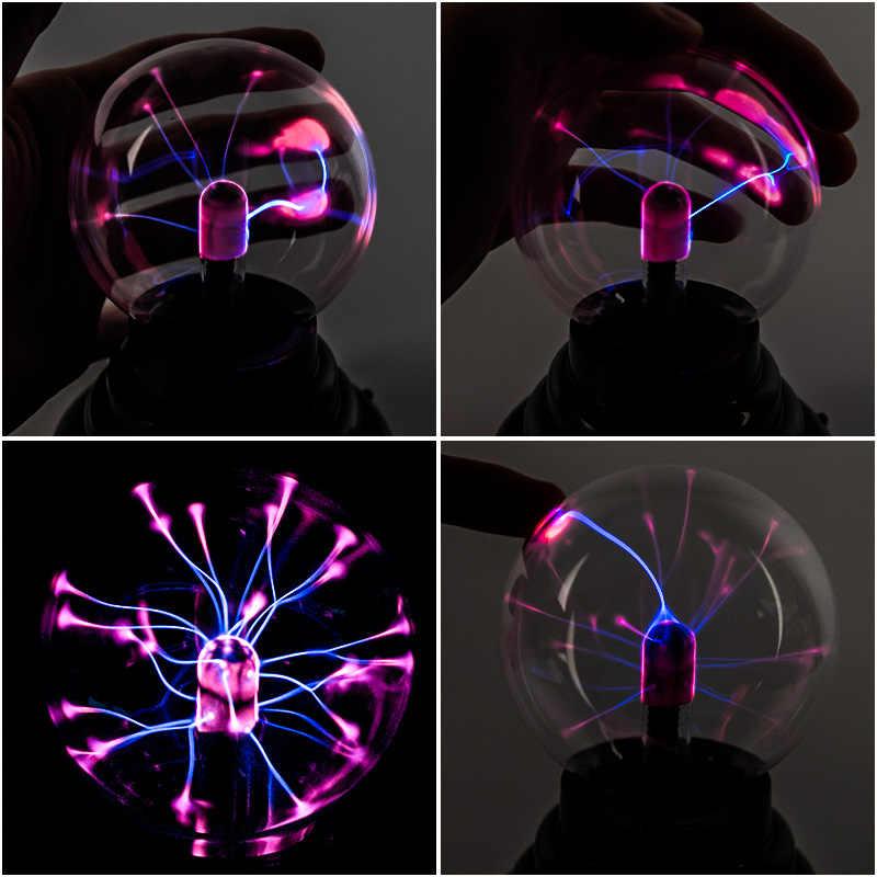 Волшебный плазменный шар Новинка свет USB лампа стеклянная сенсорная сферическая лампа плазменный свет novedades украшение novelti товар лампа Новый