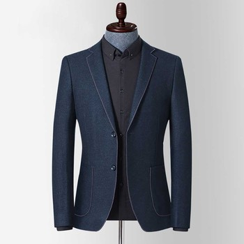 Men Suit Jacket Slim Fit Blazer Autumn Spring Suit Jacket Blazers Casual Coat Wedding Office Man Clothes