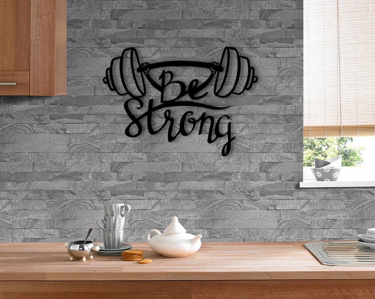 BK Home Be Strong Wood Wall Post Modern Convenient Reliable Decoration Gift Quality Design Simple Cool Black Color
