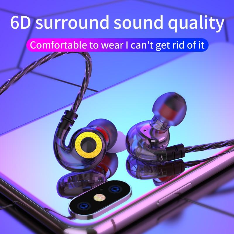 Olhveitra с глубоким басом наушники проводной гарнитуры геймера для iPhone Samsung Бесплатная доставка ушной крючок в ухо стерео 3,5 мм шумоподавляющие...