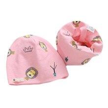 Scarf-Sets Hat Beanies Girls Baby Boys Kids Winter Children Autumn Cartoon Cotton Warm-Cap