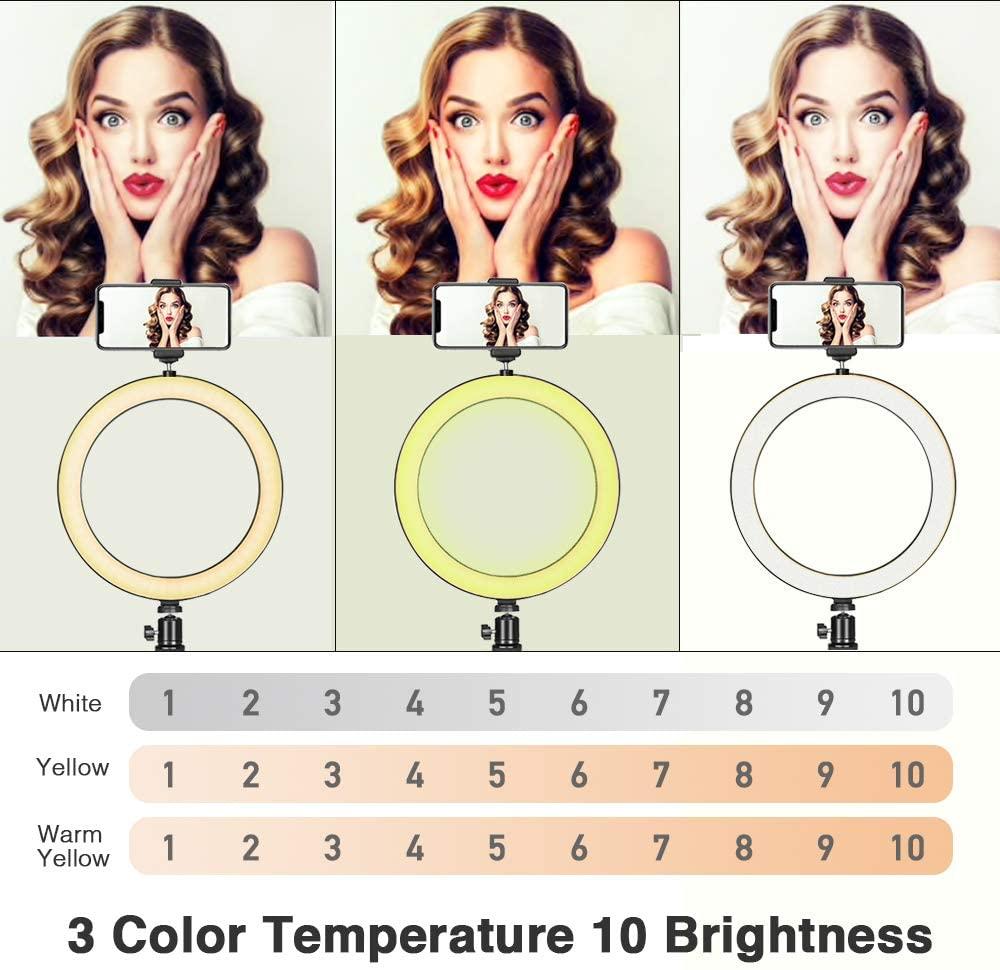 8-дюймовый заполняющий свет Сид селфи Кольцо света с USB штатив кольцо светильник с селфи палка для макияжа Ютуб видео студии