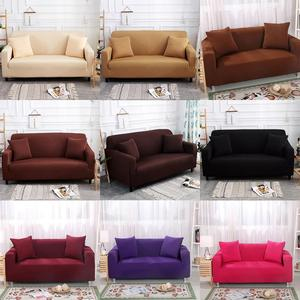 LuanQI Solid Color Sofa Cover Polyester Universal Modern Elastic Stretch Couch Cover For Living Room Europe Funda Sofa Slipcover