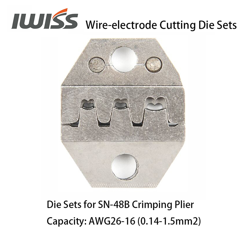 Image 2 - IWISS Wire electrode Cutting Die Sets for SN 2549/SN 48B/SN 28B Ratchet Crimping Plier Hand Crimper Toolsdie settool crimpcrimping tool crimping -