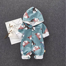 autumn newborn baby boy clothing set baby girls clothes baby outfits Bodysuit Hat Outfits Set cotton cloud printing new baby boys girls clothes bodysuit cute child animals jumpsuit hat cap clothing outfits 2pcs set