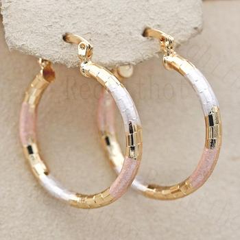 Gorący nowy wyrazisty bardzo duże kolczyki koła dla kobiet złoty kolor okrągły złoty kolczyk luksusowa biżuteria na prezent na rocznicę ślubu tanie i dobre opinie REDHITHOT Miedzi Moda Dia 2 4cm 0 94inch Metal Hoop kolczyki ROUND Kobiety TRENDY OBS4009 earrings Copper Fashion women s earrings