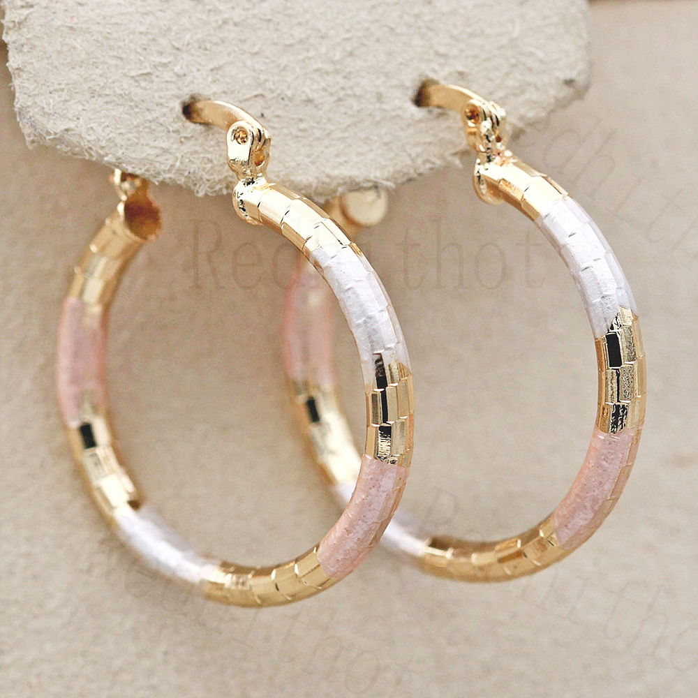 Hot New Statement Large Hoop Earrings For Women Gold Color Round Gold Earring Luxury Jewelry For Wedding Anniversary Gift