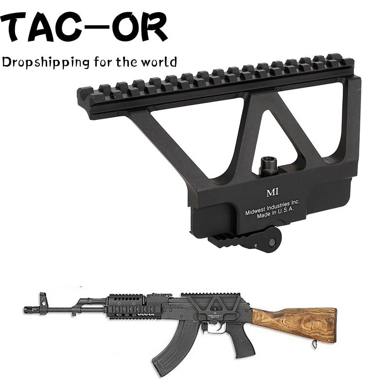Тактический прицел QD Quick Detach, боковая направляющая, основание для Пикатинни, Красная Зеленая точка, крепление для охоты, AK47 AK74, аксессуары дл...