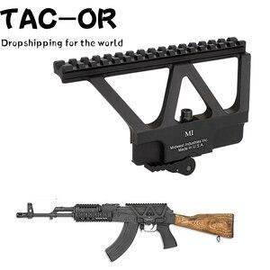 Taktik QD hızlı ayır yan ray kapsam Picatinny sabitleme kaidesi kırmızı yeşil nokta Sight dağı avcılık AK47 AK74 tüfek aksesuar