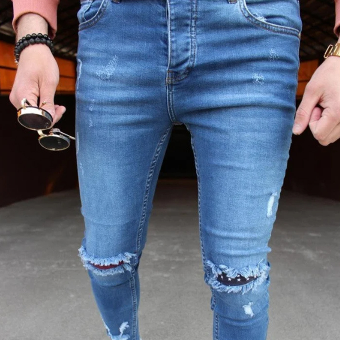 UEFEZO Fashion Streetwear Mens Jeans Destroyed Ripped Design Pencil Pants 2020 Solid Ankle Skinny Men Full Length Jeans