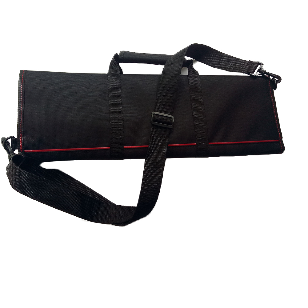 Kitchen Cooking Durable Chef Knife Bag Carry Case Strap 12 Pocket Large Capacity Multifunction Professional Roll Accessories