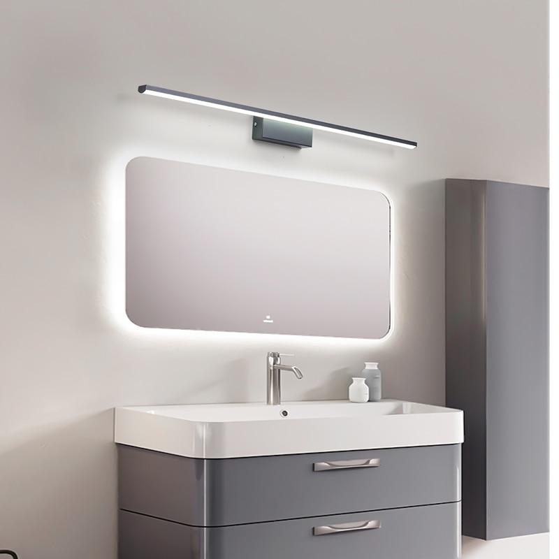 moderna frente espelho lampada fosco preto branco 03