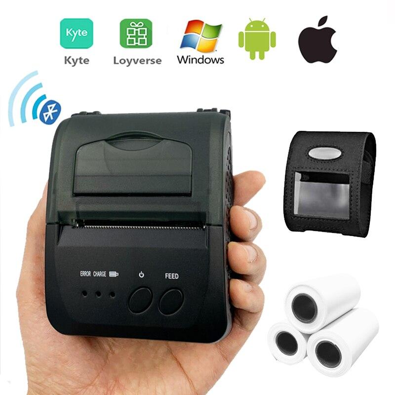 Мини портативный термальный POS чековый принтер беспроводной bluetooth лотерейный билетный принтер 58 мм с батареей для мобильного магазина|Принтеры|   | АлиЭкспресс