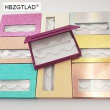 Caja de embalaje de pestañas postizas 3d, 3 pares, 25mm, venta al por mayor, 20 piezas, Funda magnética rectangularesPestañas postizas