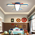 Люстра для девочек и мальчиков  роскошный светильник в виде синего самолета