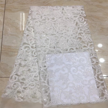 Madison Fashion Lace Fabric 2019 Sequins Latest French Lace Beautiful Bridal Lace New Pattern with Sequin Embroidered Tulle Lace