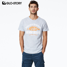 GLO-STORY Mens 2019 New Cotton T-shirt Fashion Casual Streetwear Style Summer Skateboard Tshirt Multi-Style MPO-7325