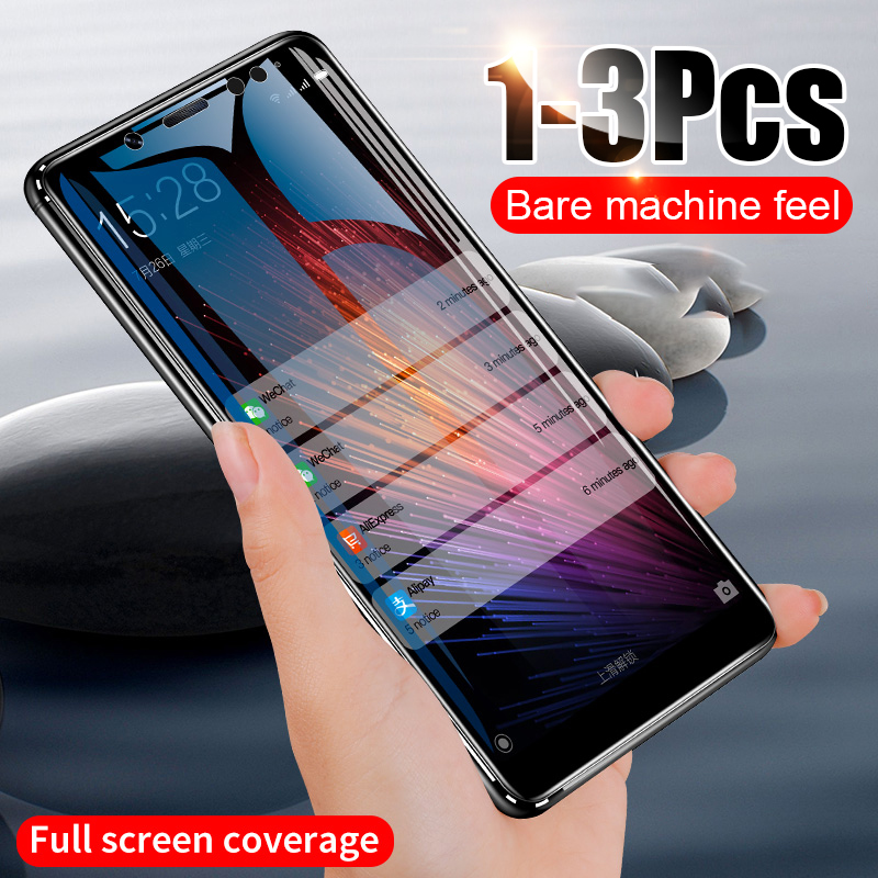ZNP 1-3Pcs Full Cover Tempered Glass For Xiaomi Redmi Note 7 5 K20 Pro Screen Protector For Redmi 6 6A 7 7A 4X Protective Glass