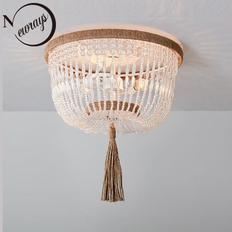 Moderne minimalistischen runde holz perlen E27 led anhänger lampe kinder schlafzimmer kristall anhänger licht wohnzimmer hotel küche lampen