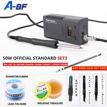 A BF 950D mikro lehimleme istasyonu 50W Mini akıllı tamir elektrikli demir Rework istasyonu hızlı isı Up kaynak demir alet setleri