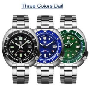 Image 3 - Стальные dive Pro Diver часы 200 м водонепроницаемые NH35 автоматические часы мужские сапфировые Кристаллы из нержавеющей стали роскошные механические часы для дайвинга