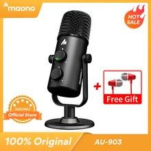 MAONO AU 903 Microfono Del Computer Podcast USB Microfono A Condensatore Podcast USB Microfono A Condensatore per YouTube Registrazione Podcast Gaming Skype