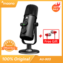 MAONO AU 903 mikrofon komputerowy Podcast USB mikrofon pojemnościowy Podcast USB mikrofon pojemnościowy do nagrywania YouTube Podcast Gaming Skype