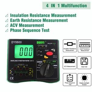 Image 3 - DUOYI DY5500 4 in1 Digitale Fluke Multifunzione Tester di Resistenza Multimetro di Isolamento Terra Voltmetro Misurazione Indicatore di Fase