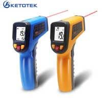 Thermomètre infrarouge IR sans contact portable pyromètre Laser LCD numérique compteur de température de Surface imageur C F rétro-éclairage-50 ~ 600C