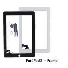 Tested Well Front Glass Replacement With Professional Repair Kit LCD Touch Screen Digitizer No Home Button For iPad 2(China)