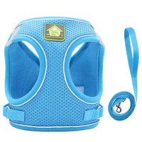 Blue-Reflective Puppy Cat Harness Vest