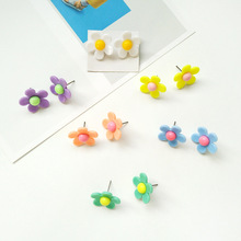 Korean Style Cute Flower Stud Earrings For Women 2018 New Fashion Sweet Earrings Female Wholesale Jewelry цены