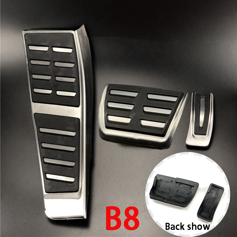 Para Audi A5 B8 S5 (8T) A5 B9 A4 S4 B8 (8K) Q5 8R A6 C7 (4G) RHD accesorios del coche de combustible de Gas de freno muerto protector de Pedal Pad Trim