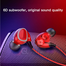 HIFI Deep Bass Earphone Dual Driver Noise-isolating Professional Earphones With Microphone Mic Earbuds For Smartphone Headset недорого