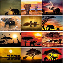 Diy 5d diamond painting elephant full round drill embroidery