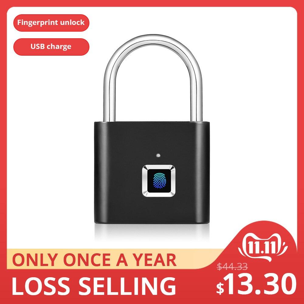 Золотой безопасности Keyless USB Перезаряжаемый дверной замок отпечатков пальцев умный замок Быстрый разблокировка цинковый сплав металлический саморазвивающийся чип