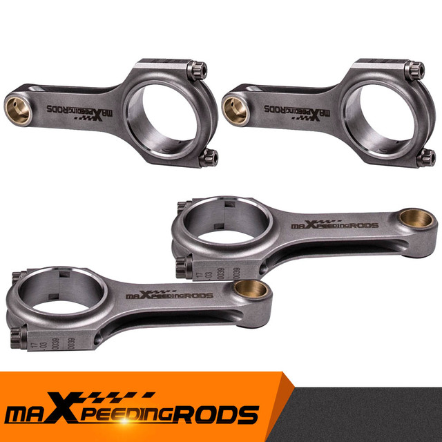 4x 커넥팅로드 Mazda MX 5 BPD, BP ZE NB 컨버터블 1.8 Miata 1.8 Pleuel ARP 2000 볼트 용 16V ARP 볼트