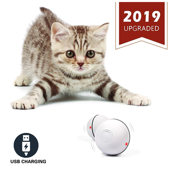 Smart Interactive Cat Toy USB Rechargeable Led Light 360 Degree Self Rotating Ball Pets Playing Toys Motion Activated Pet Bal automatic 360 degree rotating laser light cat interactive toy