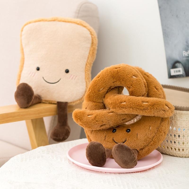 Креативная Милая Подушка-круассаны в стиле Ins, Длинные подушки-подушки, декоративная детская кукла, подарок на день рождения, украшение детс...