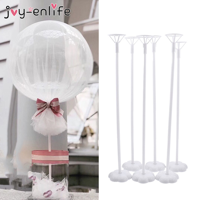 Wedding Decoration Table Balloon Stand Holder Balloons Stick Floating Baloon Supporting Rod Birthday Party Decoration Adult Kids