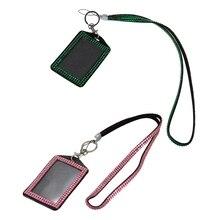 2 шт Стразы Bling Crystal на заказ ремешок вертикальный держатель для ID значка(розовый и темно-зеленый